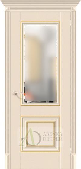 Межкомнатная дверь с экошпоном Классико-33G-27 Ivory