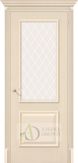 Межкомнатная дверь с экошпоном Классико-13 Ivory