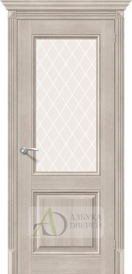 Межкомнатная дверь с экошпоном Классико-33 ПО Cappuccino Veralinga
