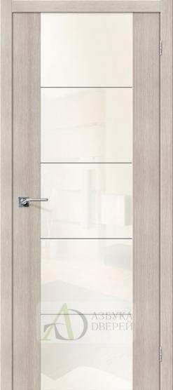 Межкомнатная дверь с Экошпоном V4 Cappuccino Veralinga White Pearl