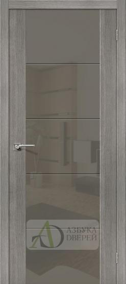 Межкомнатная дверь с Экошпоном V4 Grey Veralinga