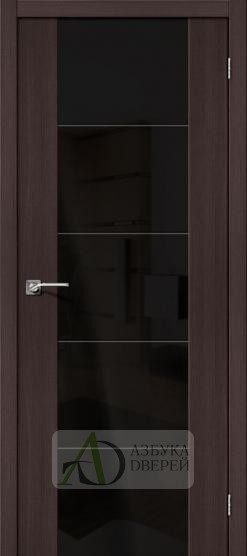 Межкомнатная дверь с Экошпоном V4 Wenge Veralinga Black Star