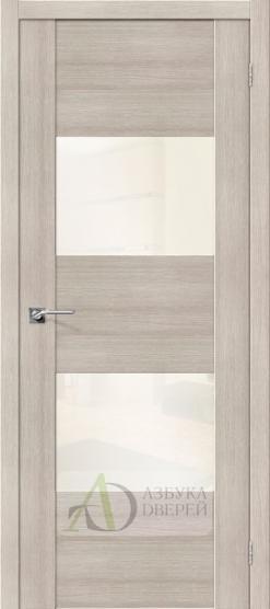 Межкомнатная дверь с Экошпоном VG2 Cappuccino Veralinga White Pearl
