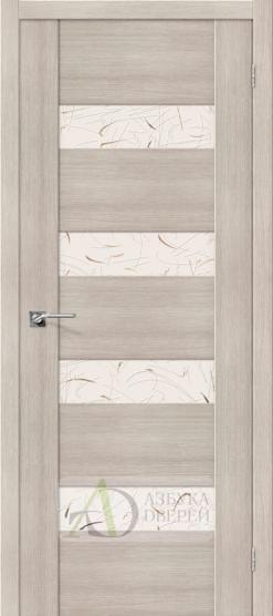 Межкомнатная дверь с Экошпоном VM4 Cappuccino Veralinga Silver Art