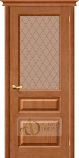Межкомнатная дверь из Массива М5 ПО светлый лак