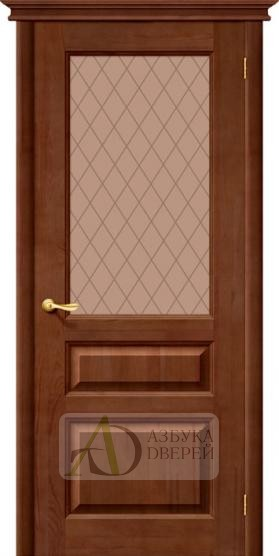 Межкомнатная дверь из Массива М5 ПО темный лак
