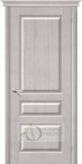 Межкомнатная дверь М5 ПГ белый воск. Массив