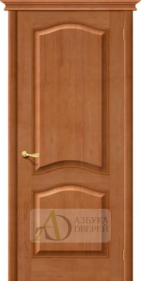 Межкомнатная дверь М7 ПГ светлый лак. Массив