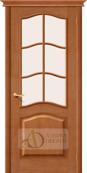 Межкомнатная дверь из массива М7 ПО Сатинато белое Светлый лак