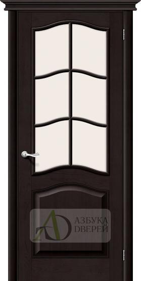 Межкомнатная дверь из массива М7 ПО Сатинато белое Темный лак