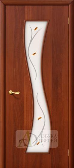 Межкомнатная ламинированная дверь Лиана ПО итальянский орех