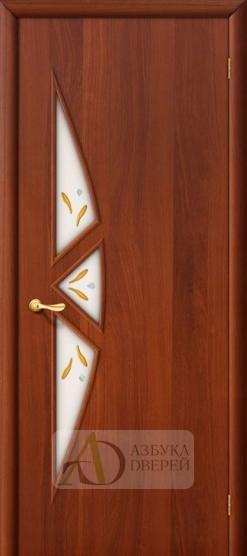 Межкомнатная ламинированная дверь 15Ф ПО Итальянский орех
