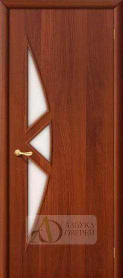 Межкомнатная ламинированная дверь 4С15 ПО итальянский орех