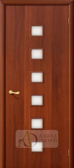 Межкомнатная ламинированная дверь 4С1 ПО итальянский орех