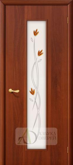 Межкомнатная ламинированная дверь Тиффани-2 ПО итальянский орех