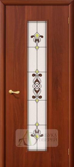 Межкомнатная ламинированная дверь Тиффани-3 ПО итальянский орех