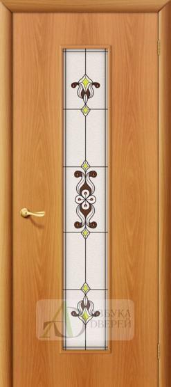 Межкомнатная ламинированная дверь Тиффани-3 ПО миланский орех