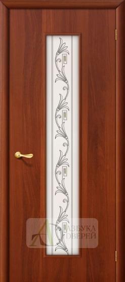 Межкомнатная ламинированная дверь Тиффани-4 ПО итальянский орех