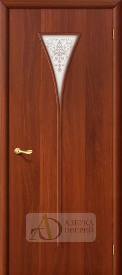 Межкомнатная ламинированная дверь 4С3х ПО итальянский орех
