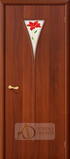 Межкомнатная ламинированная дверь 3П ПО Итальянский орех