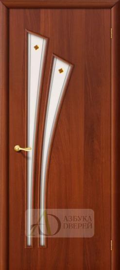 Межкомнатная ламинированная дверь 4С4ф ПО итальянский орех