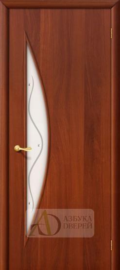 Межкомнатная ламинированная дверь 4С5ф ПО итальянский орех
