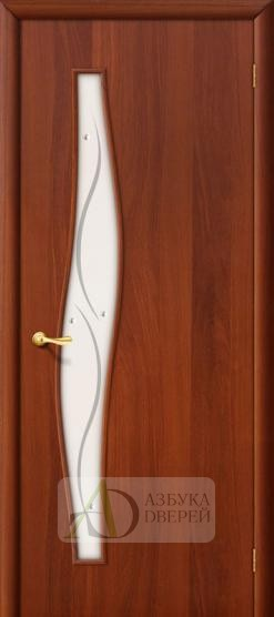 Межкомнатная ламинированная дверь 4С6ф ПО итальянский орех
