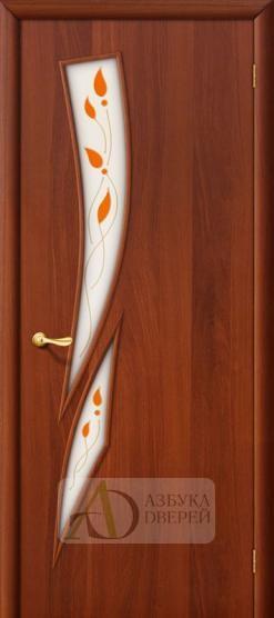 Межкомнатная ламинированная дверь 8П ПО итальянский орех