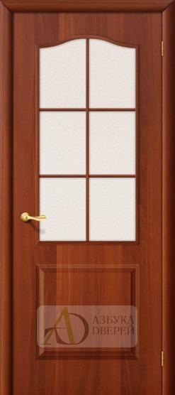 Межкомнатная ламинированная дверь Палитра ПО итальянский орех