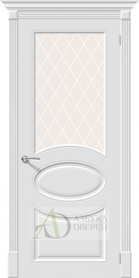 Межкомнатная эмалированная дверь Скинни-21 Whitey