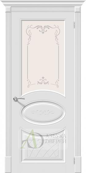 Межкомнатная эмалированная дверь Скинни-21 Аrt Whitey