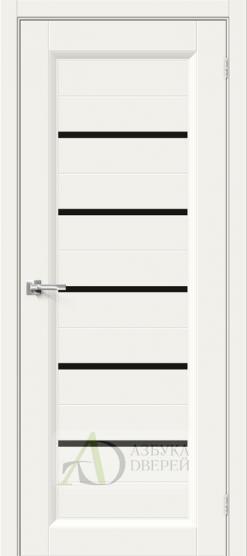 Межкомнатная эмалированная дверь Скинни-51 Black Line Whitey