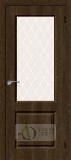 Межкомнатная дверь с ПВХ-пленкой Скинни-13 Dark Barnwood