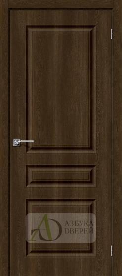 Межкомнатная дверь с ПВХ-пленкой Скинни-14 Dark Barnwood