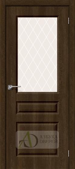 Межкомнатная дверь с ПВХ-пленкой Скинни-15 Dark Barnwood