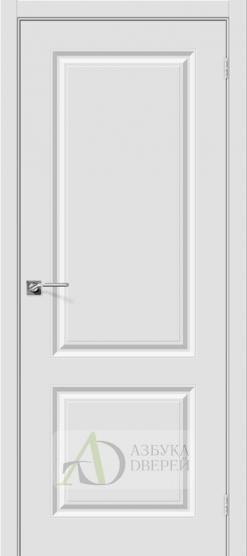 Межкомнатная дверь с ПВХ-пленкой Скинни-12 ПГ Белый
