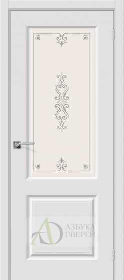 Межкомнатная дверь с ПВХ-пленкой Скинни-13 ПО Белый