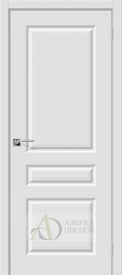 Межкомнатная дверь с ПВХ-пленкой Скинни-14 ПГ Белый
