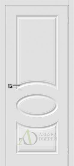 Межкомнатная дверь с ПВХ-пленкой Скинни-20 ПГ Белый