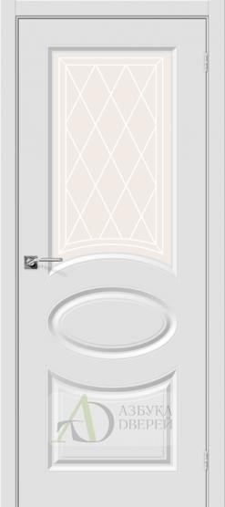 Межкомнатная дверь с ПВХ-пленкой Скинни-21 ПО Белый