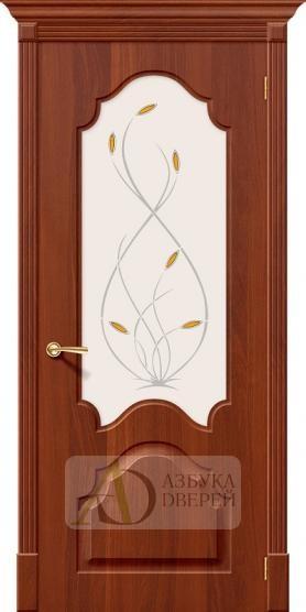 Межкомнатная дверь с ПВХ-пленкой Скинни-33 П-31 (ИталОрех)