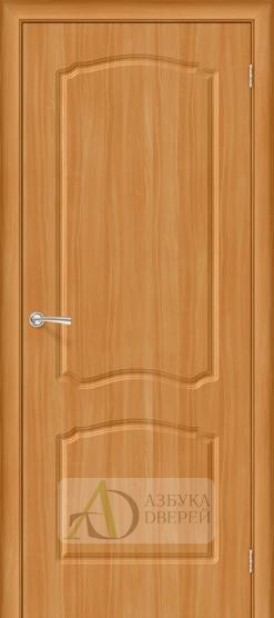 Межкомнатная дверь с ПВХ-пленкой Альфа ПГ миланский орех