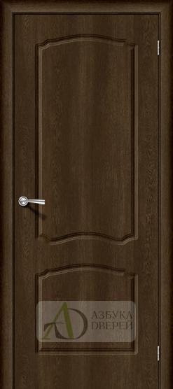 Межкомнатная дверь с ПВХ-пленкой Альфа-1 Dark Barnwood