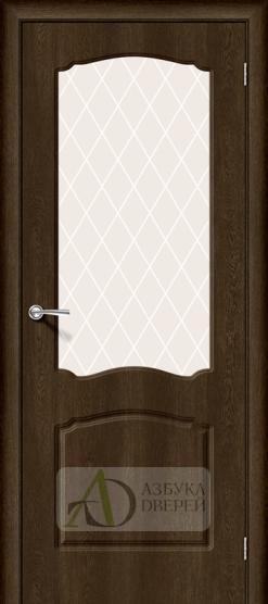 Межкомнатная дверь с ПВХ-пленкой Альфа-2 Dark Barnwood