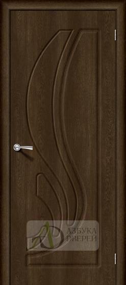 Межкомнатная дверь с ПВХ-пленкой Лотос-1 Dark Barnwood