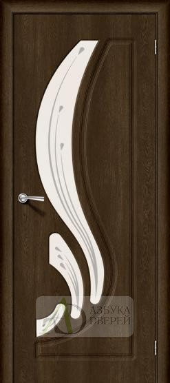 Межкомнатная дверь с ПВХ-пленкой Лотос-2 Dark Barnwood