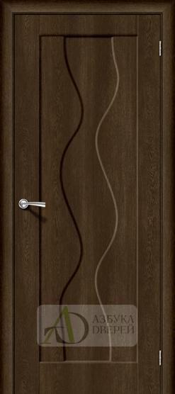Межкомнатная дверь с ПВХ-пленкой Вираж-1 Dark Barnwood