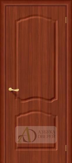 Межкомнатная дверь с ПВХ-пленкой Лидия ПГ итальянский орех