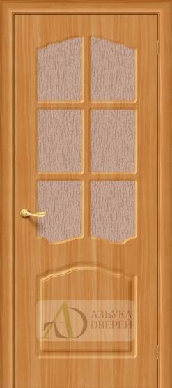 Межкомнатная дверь с ПВХ-пленкой Лидия ПО миланский орех