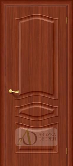 Межкомнатная дверь с ПВХ-пленкой Модена ПГ итальянский орех